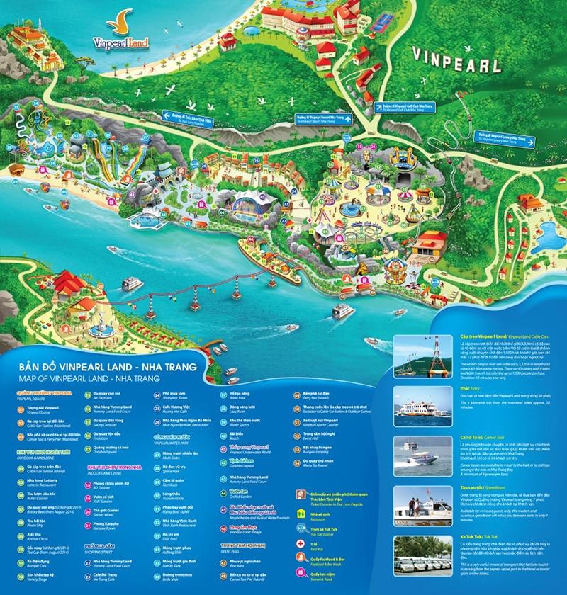 Bản đồ Vinpearl Nha Trang tổng thể