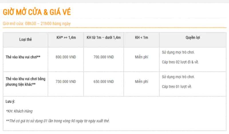 Giá vé Vinpearl Land Nha Trang