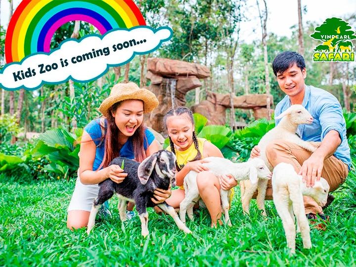 Khu Kid Zoo với những người bạn đáng yêu tại Vinpearl Safari Phú Quốc
