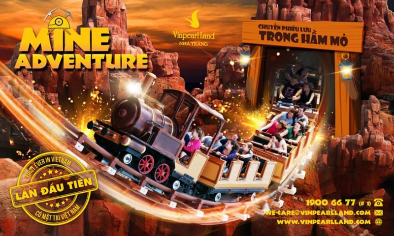 Vinpearl nha trang giá vé -Trò chơi chuyến phiêu lưu trong hầm mỏ