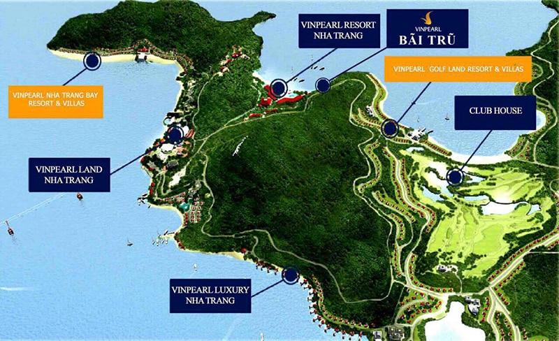 villa vinpearl nha trang - Sơ đồ vị trí dự án Villas tại Nha Trang