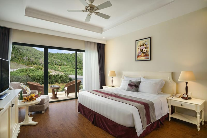 Phòng ngủ đẳng cấp quốc tế 5 sao - khu nghỉ dưỡng Vinpearl Nha Trang