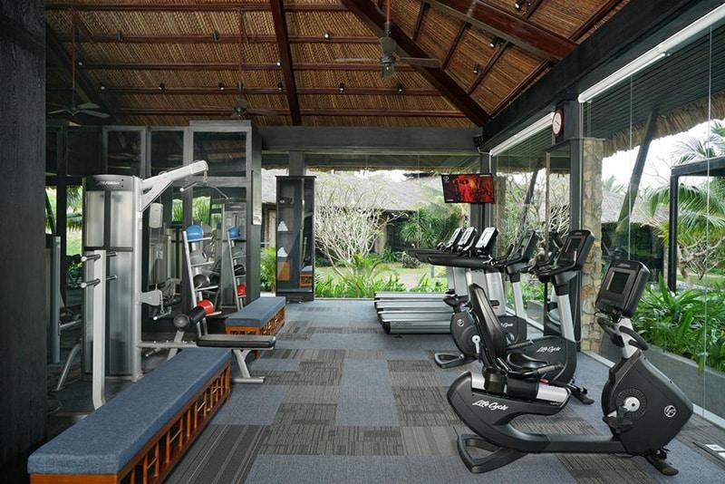 Phòng tập gym hiện đại tại vinpearl nha trang resort