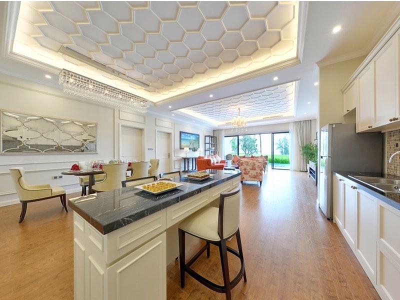 Thiết kế nội thất trắng sang trọng và đẳng cấp tại Vinpearl Phú Quốc Villa 4 phòng ngủ