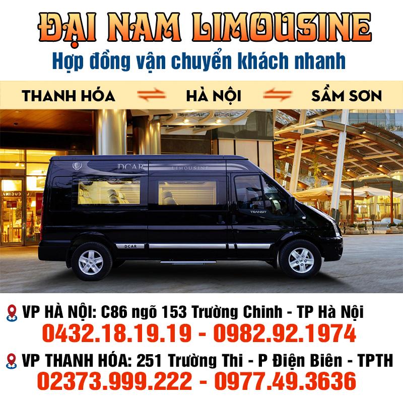 xe limousine hà nội thanh hóa đại nam