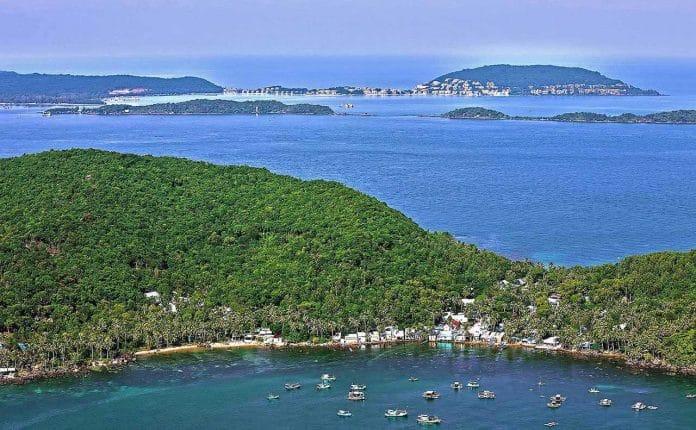 đảo phú quốc nhìn từ trên cao